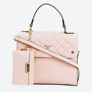 Dune London Quilted Box Satchel Purse